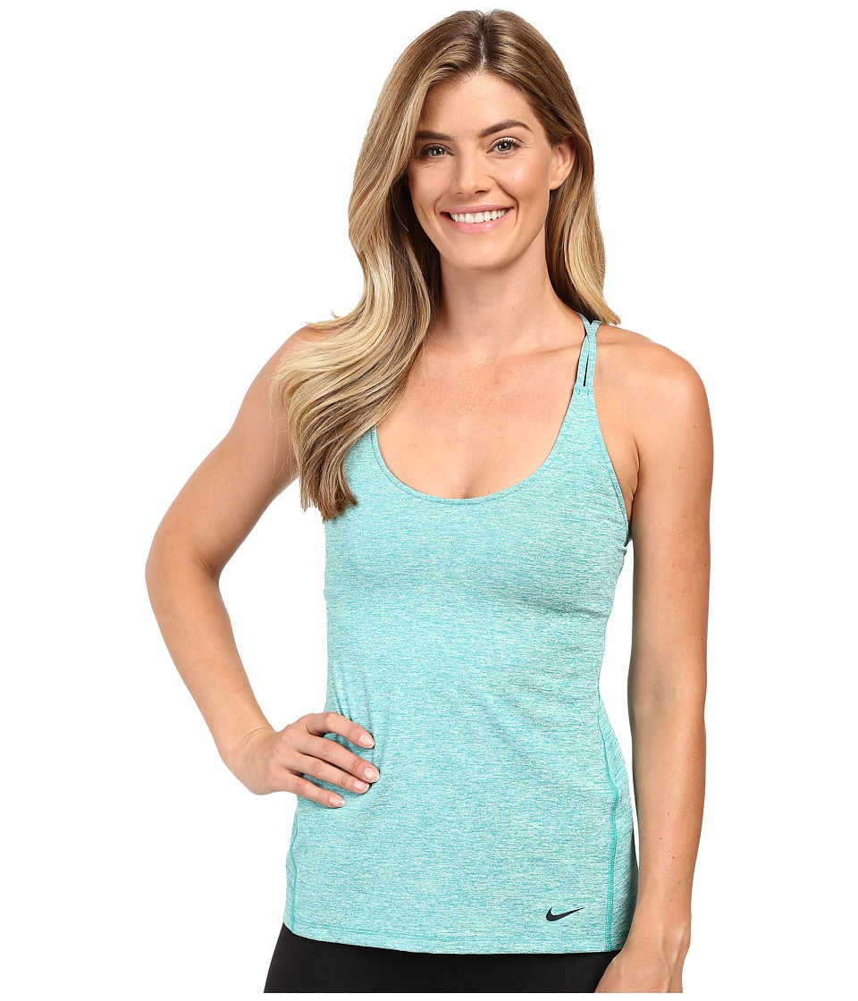 Nike Strappy Training Tank (Teal Charge/Heather/Black) Women