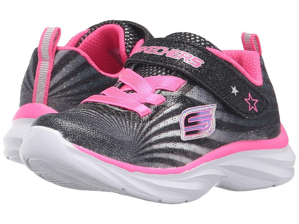 SKECHERS KIDS - 80591N (Toddler) (Black/White/Pink) Girl