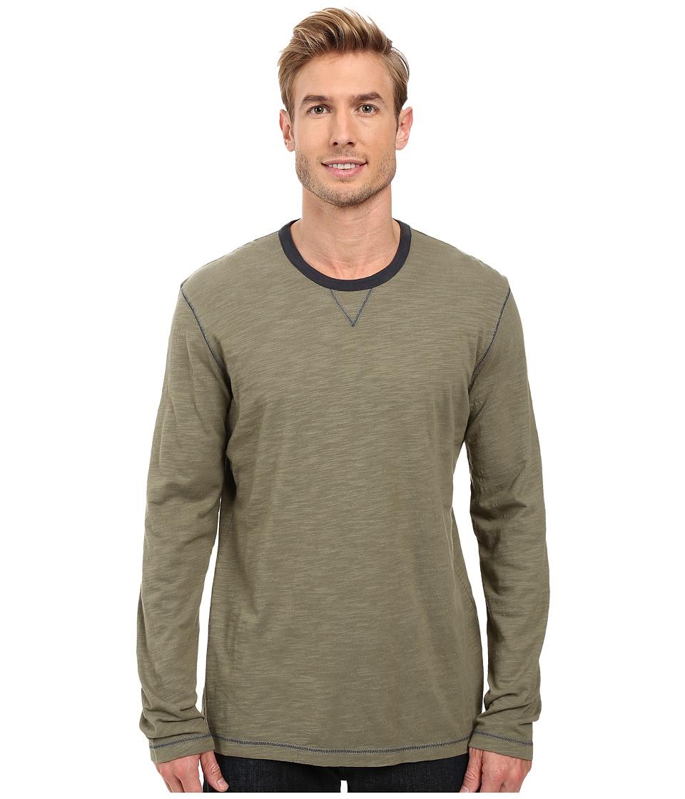 Ecoths - Ezra Long Sleeve Shirt (Deep Lichen Green) Men's Clothing