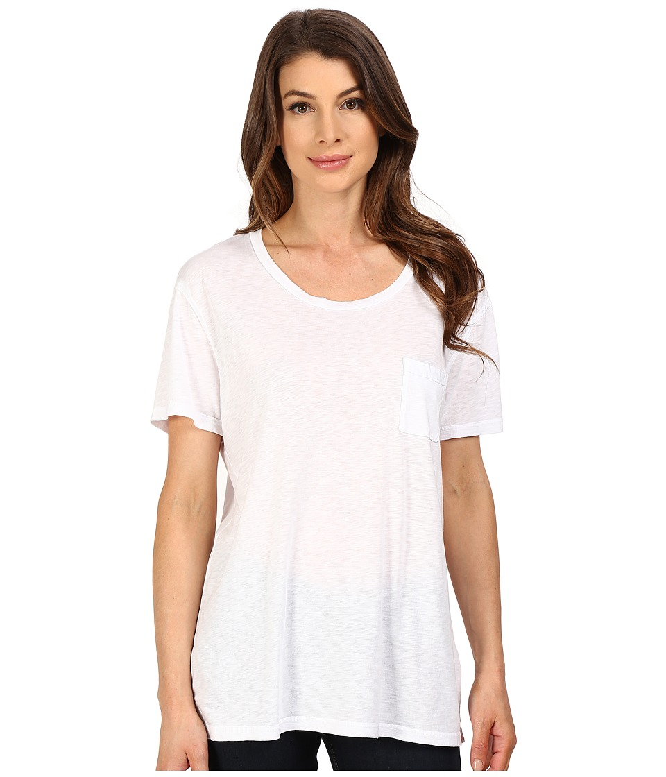 The Beginning Of - Slub Nico Oversized Tee (White) Women's T Shirt
