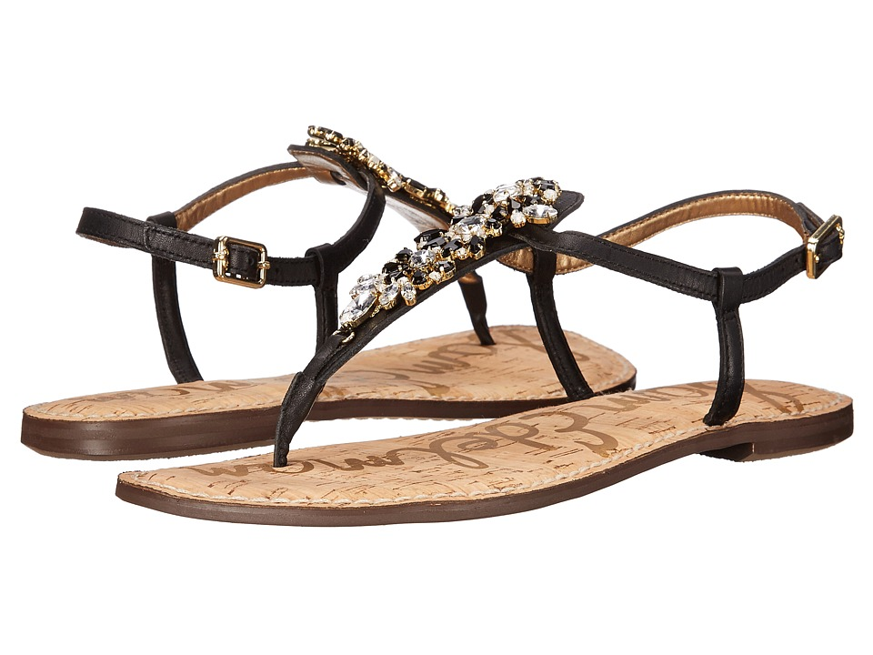 Sam Edelman - Gene (Black Vaquero Saddle Leather) Women's Sandals
