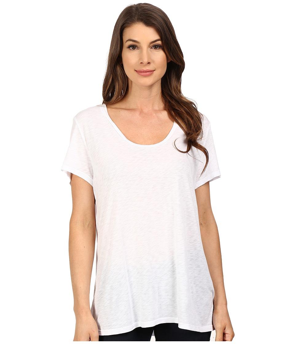 The Beginning Of - Slub Charlotte Slouchy Tee (White) Women's T Shirt