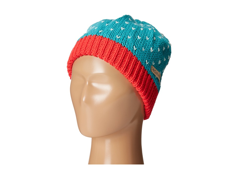Columbia - Powder Princess Hat (Youth) (Miami/Red Camellia) Knit Hats