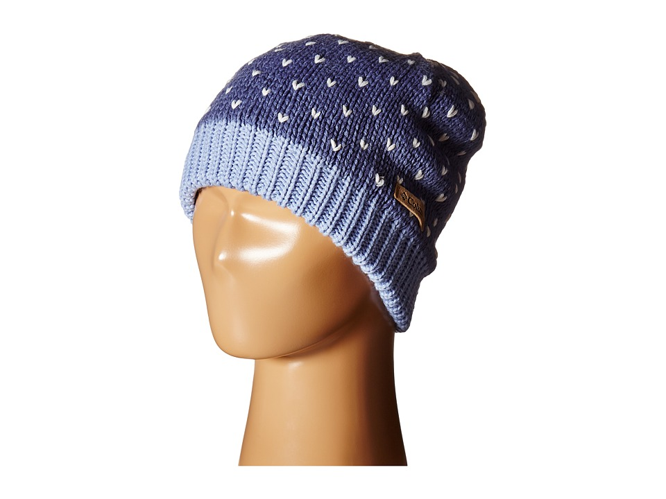 Columbia - Powder Princess Hat (Youth) (Bluebell/Empress) Knit Hats