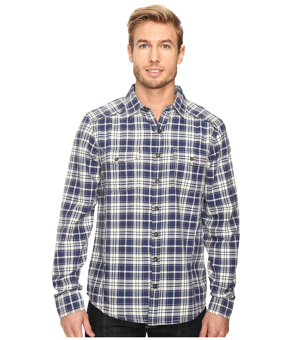 Ecoths - Preston Long Sleeve Shirt (Indigo Blue) Men's Clothing