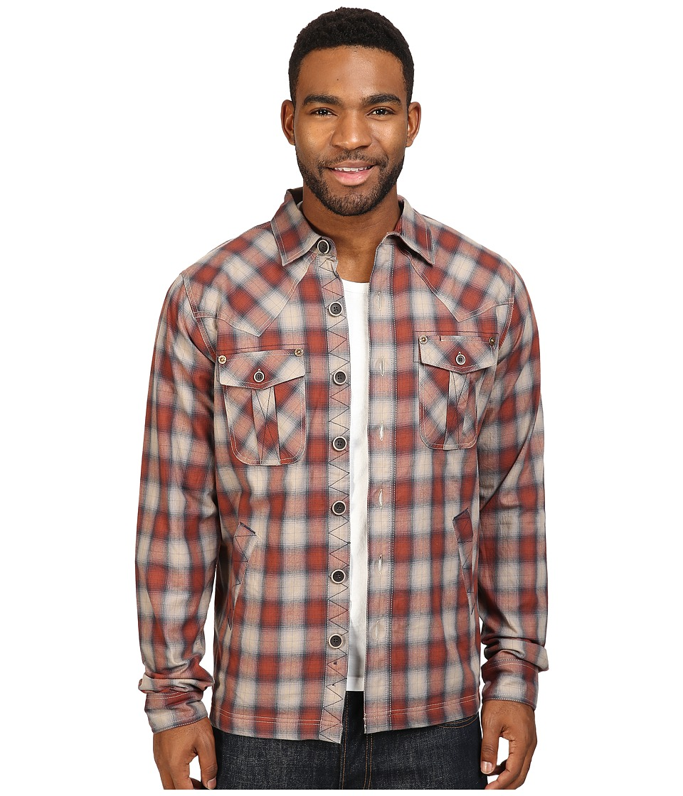 Ecoths - Cooper Shirt Jacket (Henna) Men's Clothing