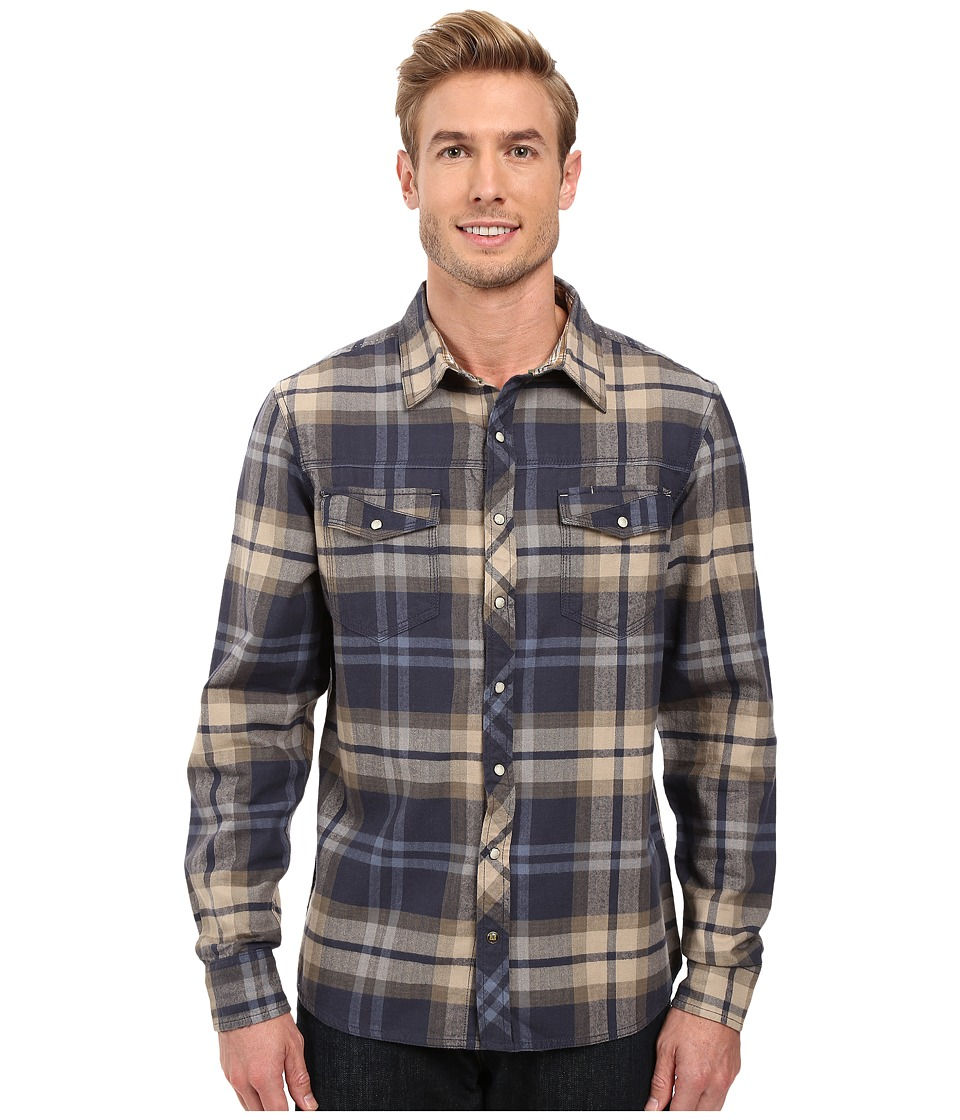 Ecoths - Fletcher Long Sleeve Shirt (Ombre Blue) Men's Clothing
