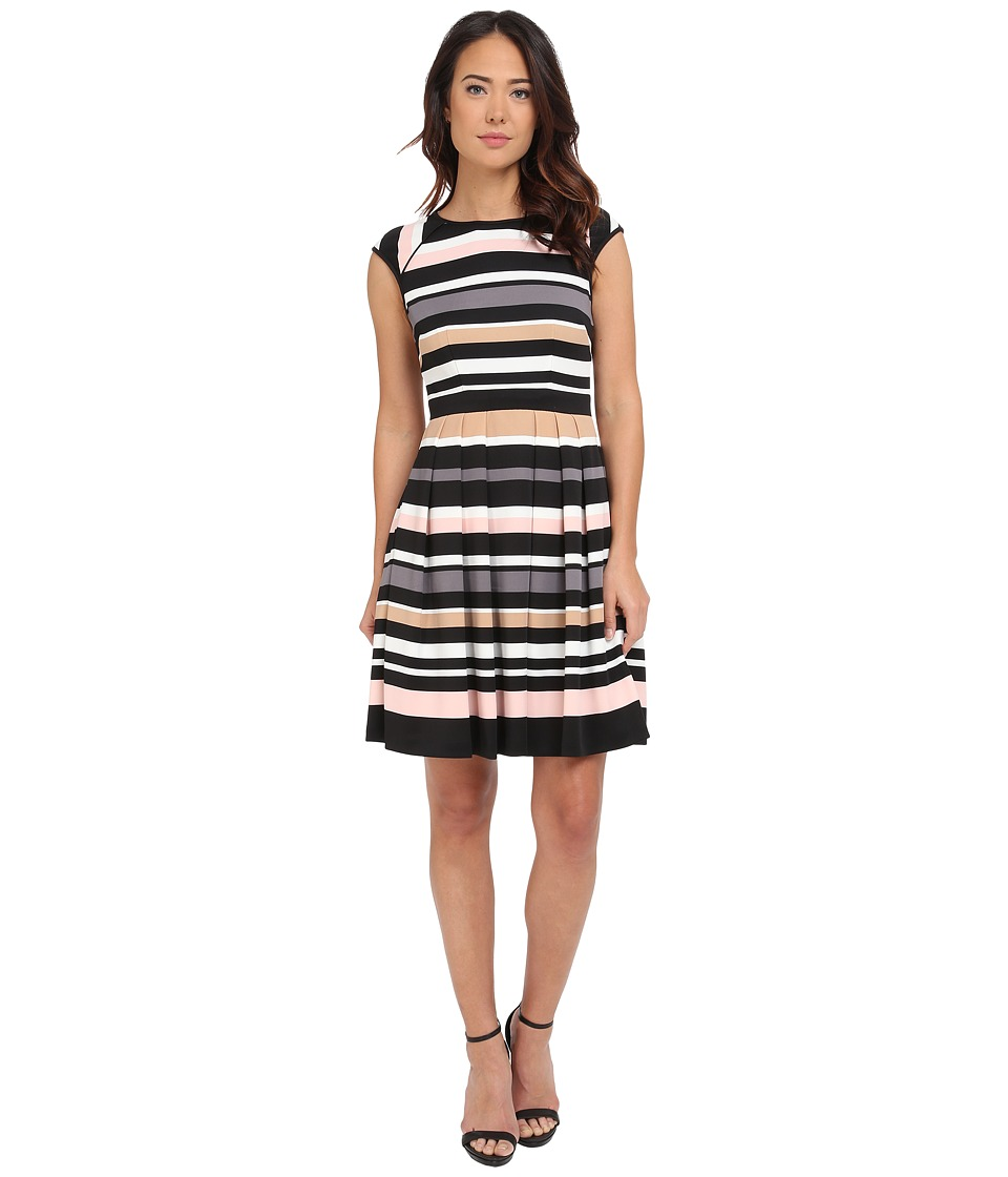 Vince Camuto - Pleated Stripe Dress (Multi) Women's Dress