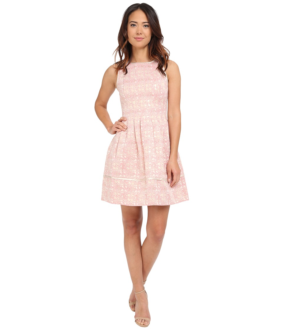 Vince Camuto - Sleeveless Fit and Flare with Release Pleats and Combo Binding (Pink) Women's Dress