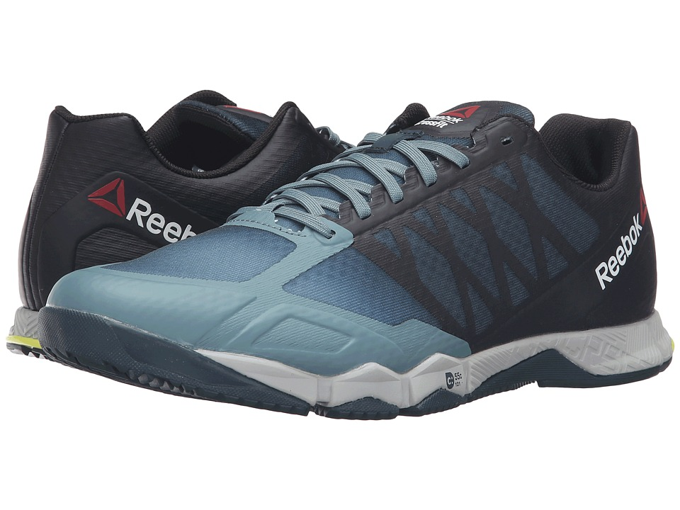 Reebok - Crossfit Speed TR (Teal Dust/Forest Grey/black/Hero Yellow/Skull Grey) Men's Cross Training Shoes