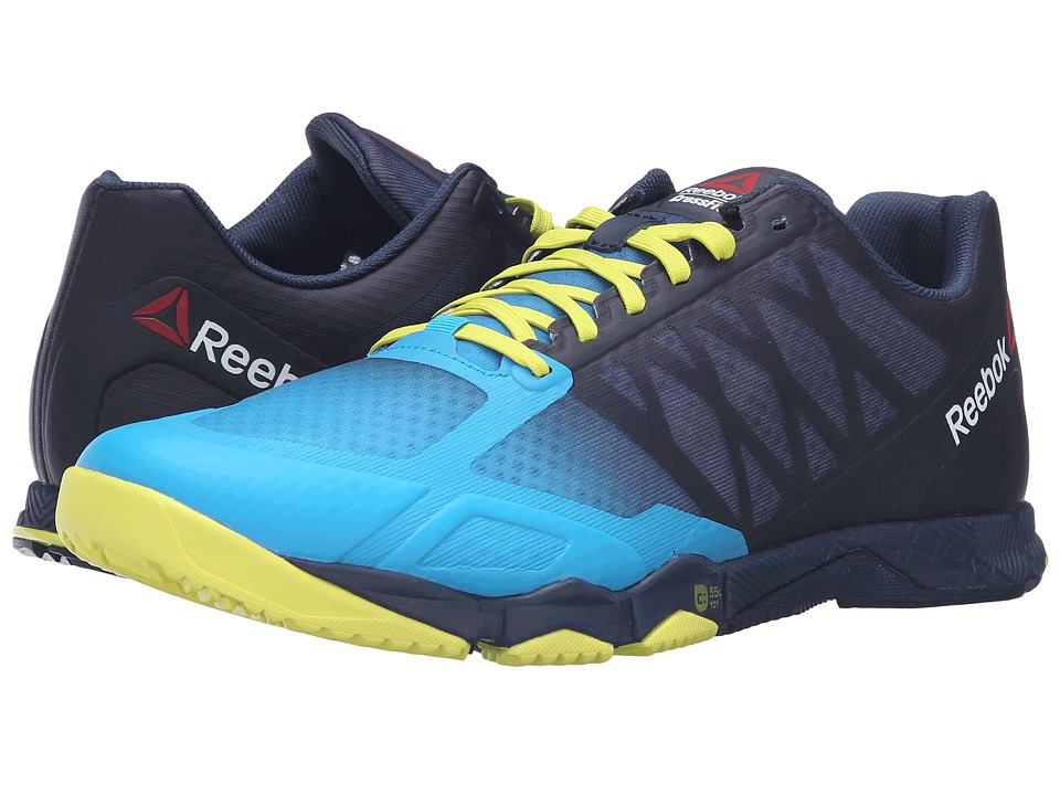 Reebok - Crossfit Speed TR (Wild Blue/Collegiate Navy/Hero Yellow/Pewter) Men's Cross Training Shoes