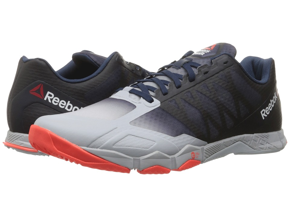 Reebok - Crossfit Speed TR (Cloud Grey/Collegiate Navy/Atomic Red) Men's Cross Training Shoes