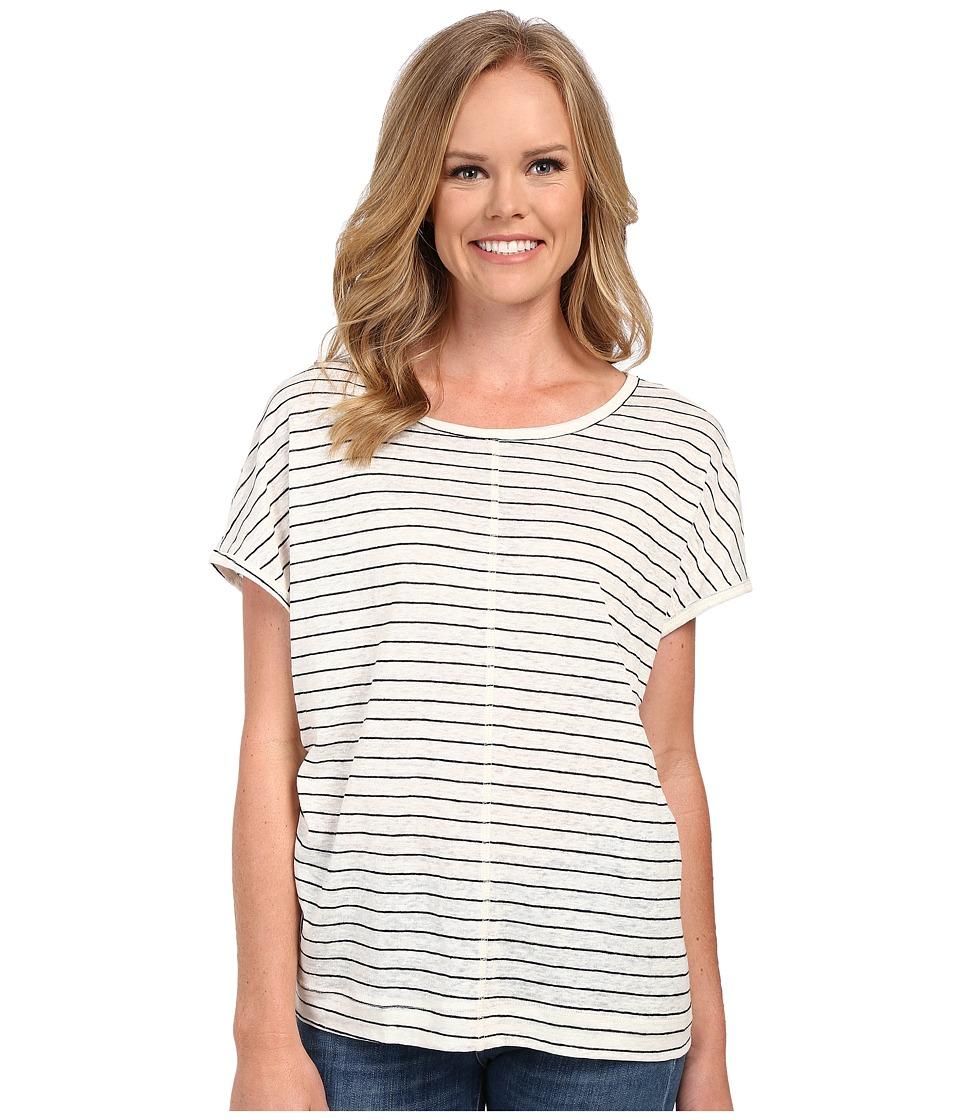 The Beginning Of - Oversized Tee (White/Black) Women's T Shirt
