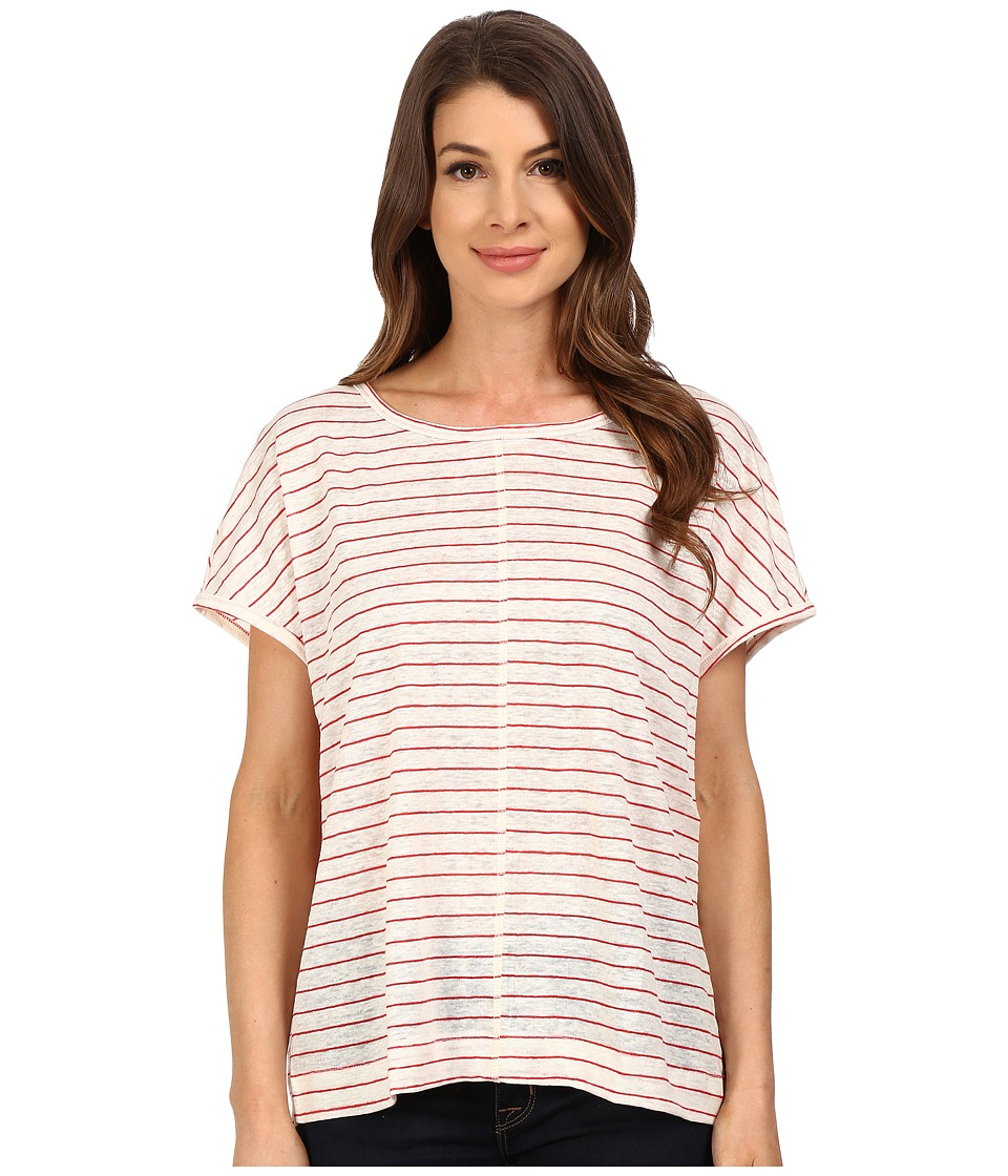 The Beginning Of - Oversized Tee (White/Red) Women's T Shirt