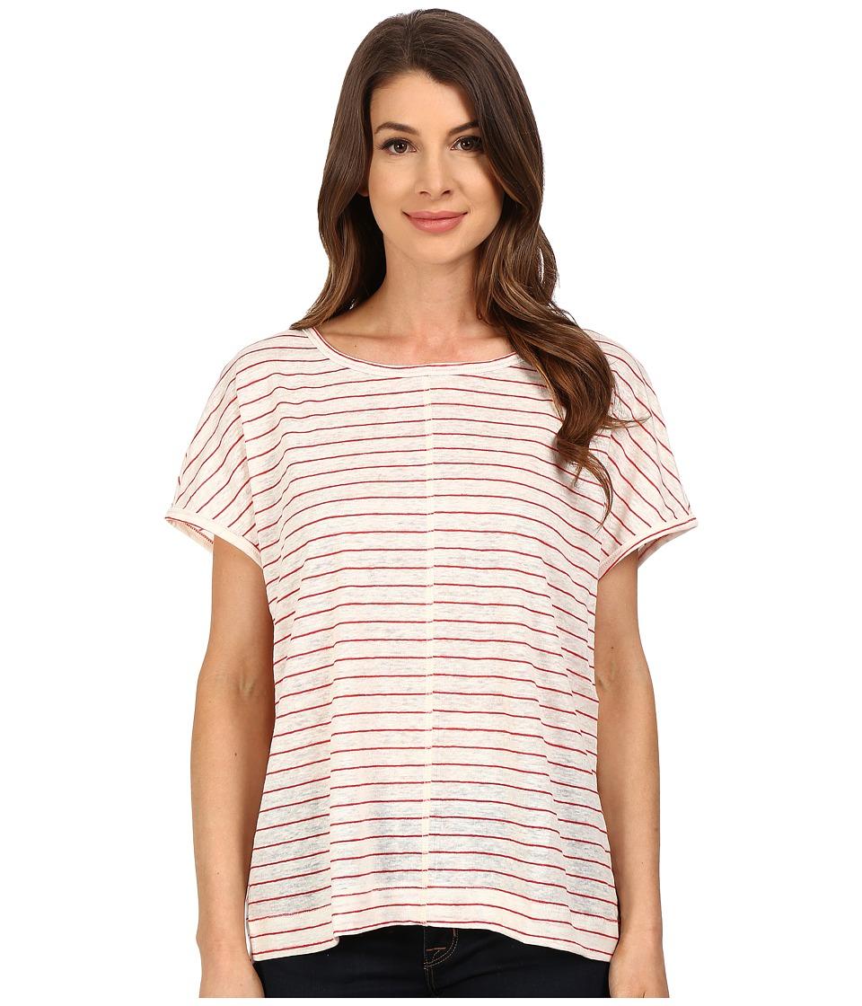 The Beginning Of - Oversized Tee (White/Red) Women's T Shirt