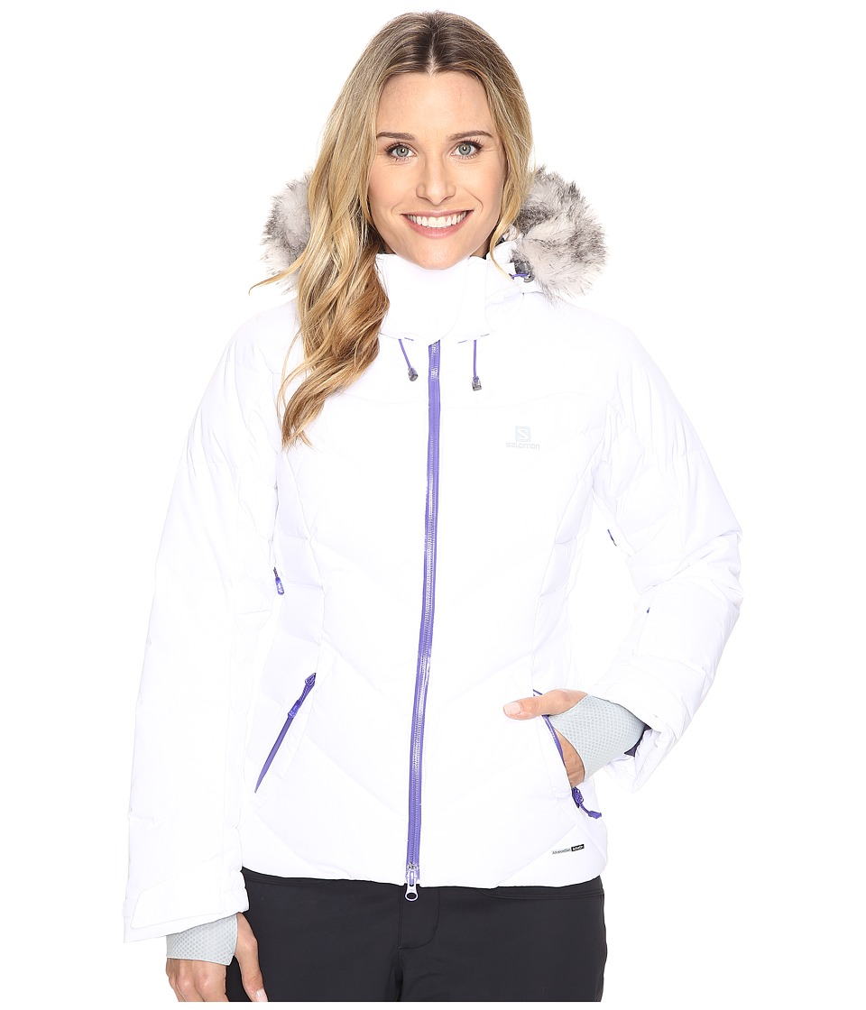 Salomon - Icetown Jacket (White) Women's Coat