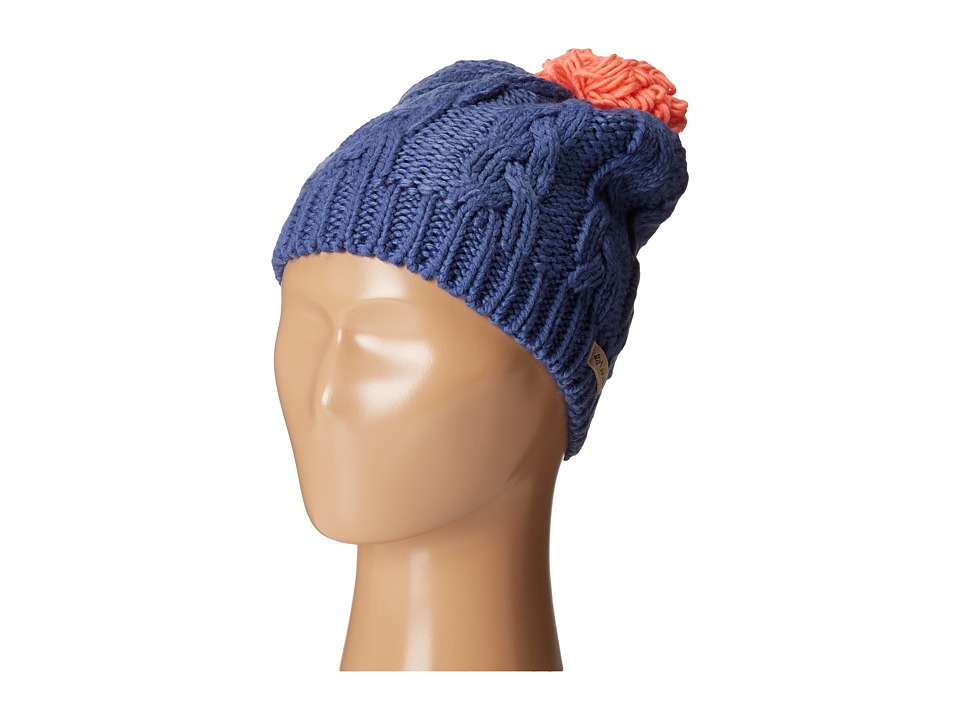 Columbia - In-Bounds Beanie (Youth) (Bluebell/Hot Coral) Beanies