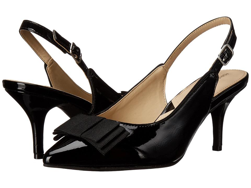 Adrienne Vittadini - Siyan (Black Crinkle Patent) Women's 1-2 inch heel Shoes
