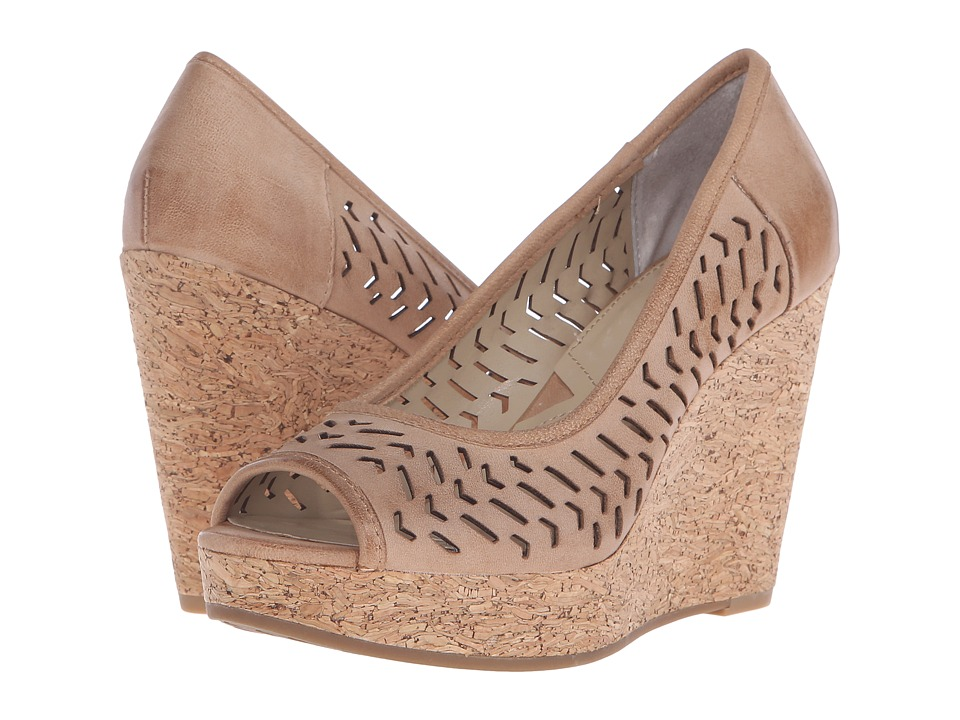 Adrienne Vittadini - Carilena (Terracota Burnished Leather) Women's Wedge Shoes
