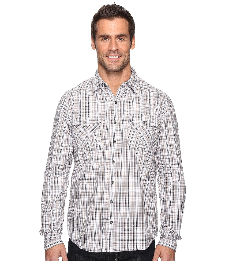Ecoths - Brooks Long Sleeve Shirt (Black) Men's Clothing