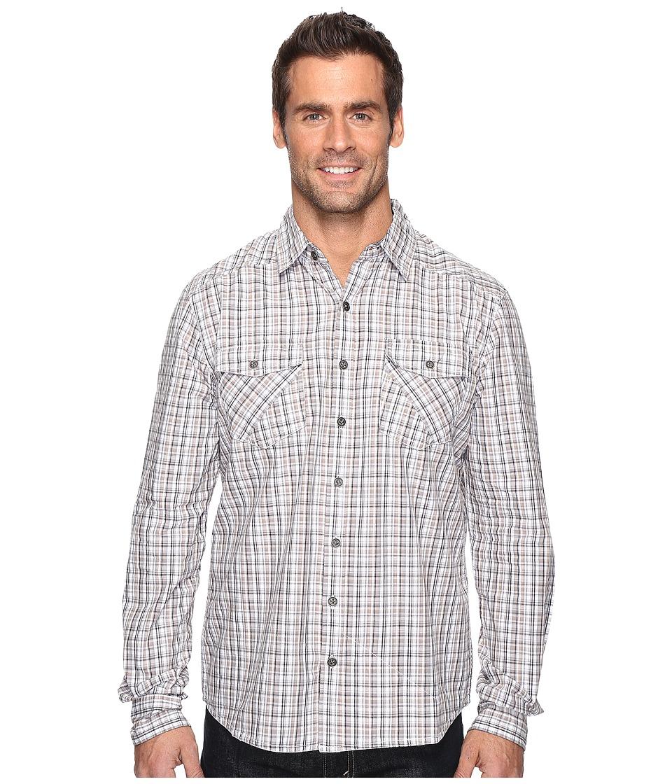 Ecoths Brooks Long Sleeve Shirt (Black) Men