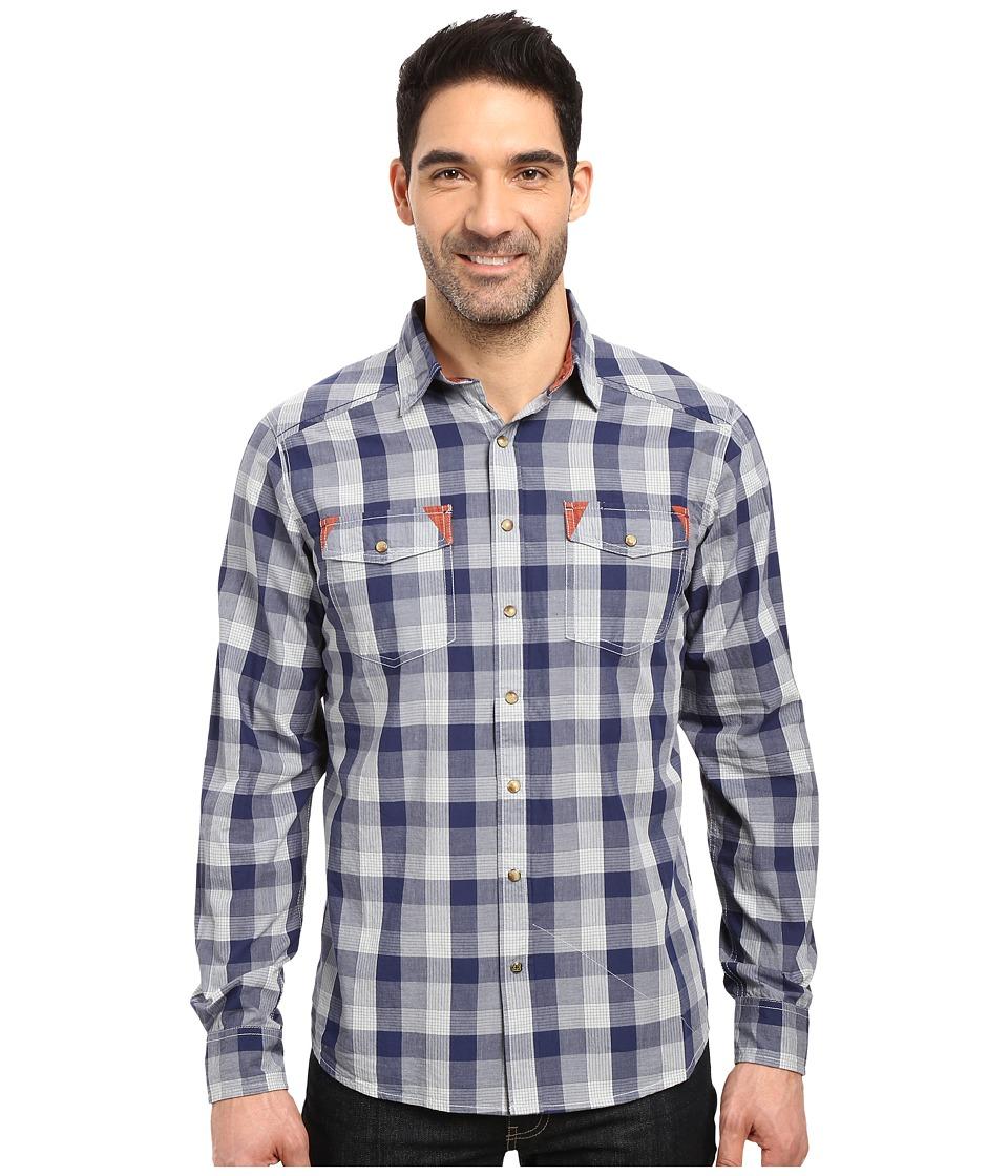 Ecoths - Jett Long Sleeve Shirt (Indigo Blue) Men's Clothing