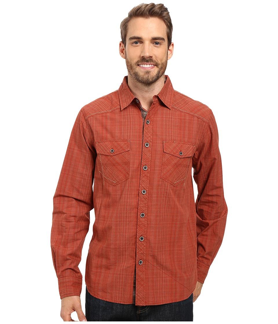 Ecoths - Rupert Long Sleeve Shirt (Henna) Men's Clothing