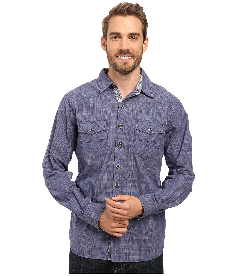 Ecoths - Rupert Long Sleeve Shirt (Indigo Blue) Men's Clothing