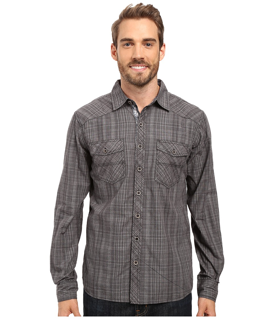 Ecoths - Rupert Long Sleeve Shirt (Black) Men's Clothing