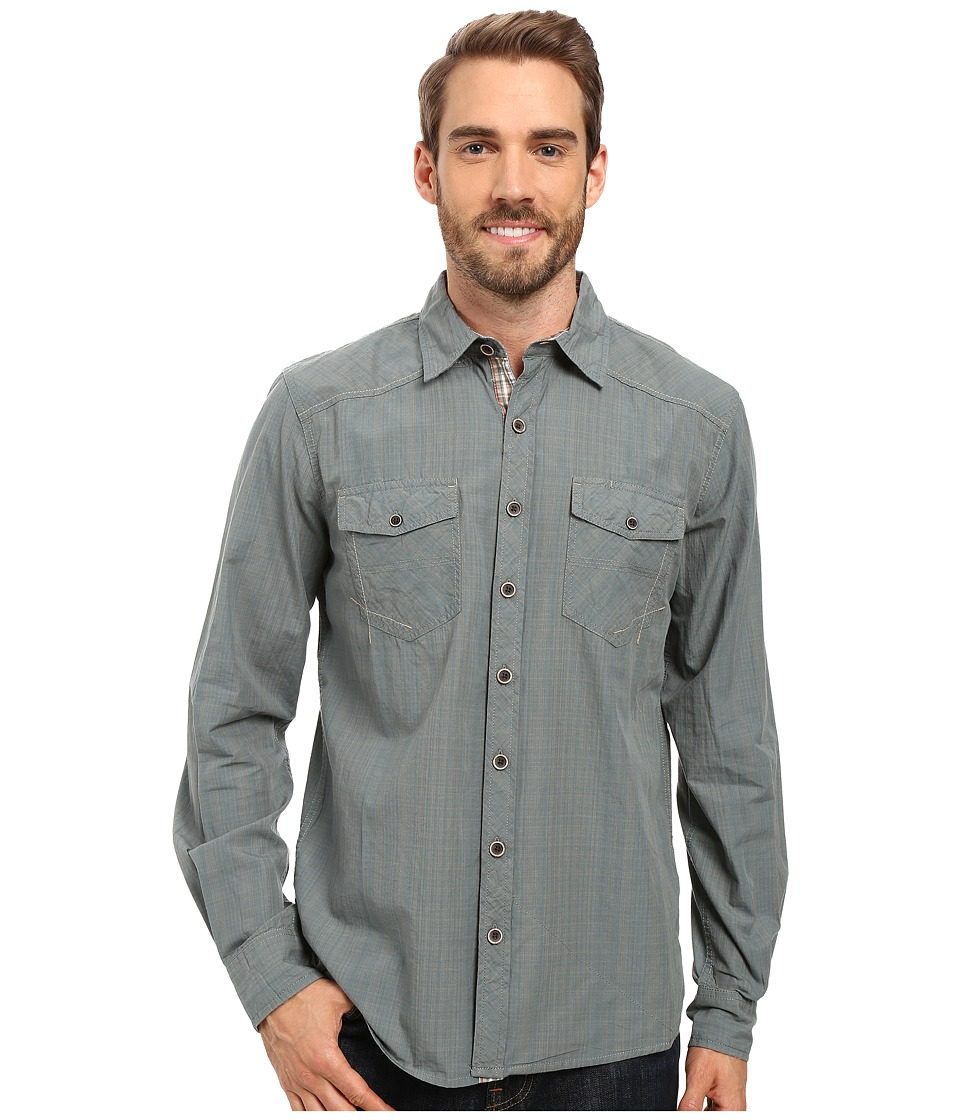 Ecoths - Rupert Long Sleeve Shirt (Silver Pine) Men's Clothing
