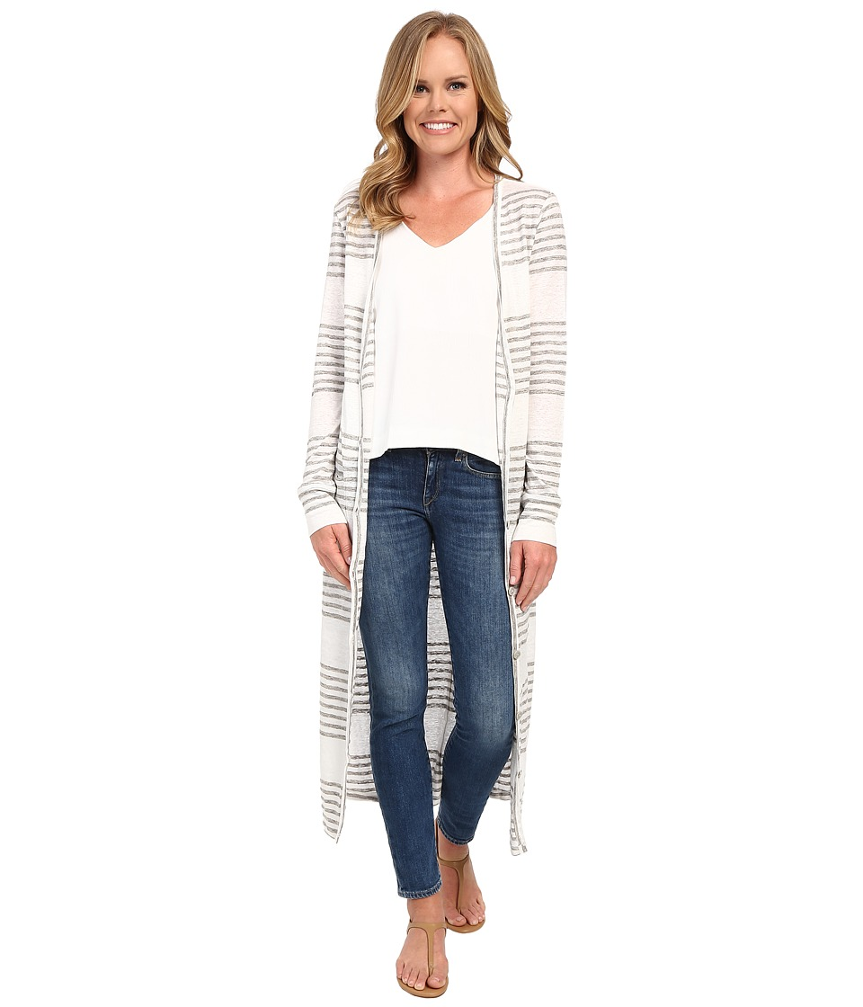 The Beginning Of - Carmen Long Cardigan (White/Heather Grey) Women's Sweater