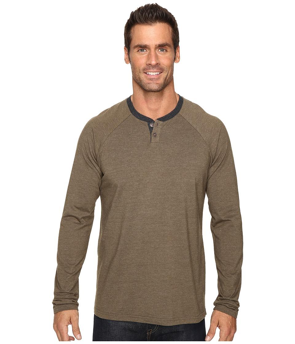 Ecoths - Zeke Henley (Tarmac) Men's Long Sleeve Pullover