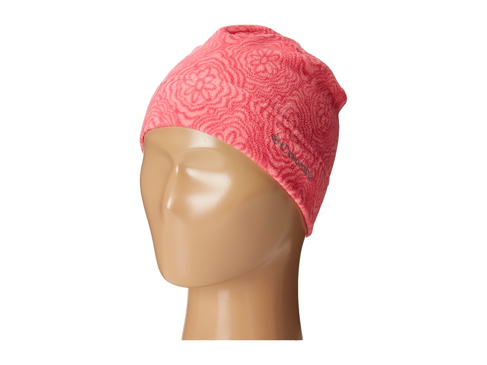Columbia - Glacial Fleece Hat (Youth) (Punch Pink Roses) Beanies