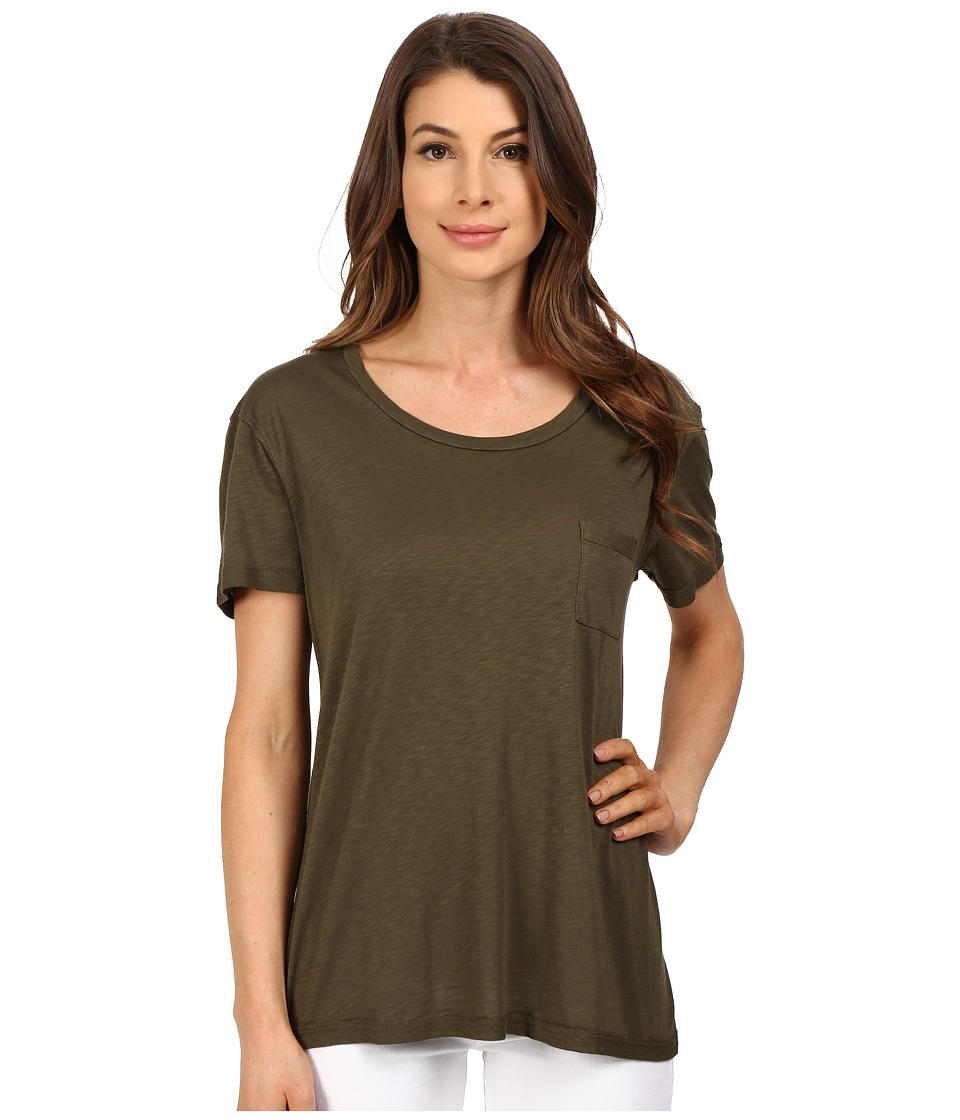 The Beginning Of - Slub Nico Oversized Tee (Moss) Women's T Shirt
