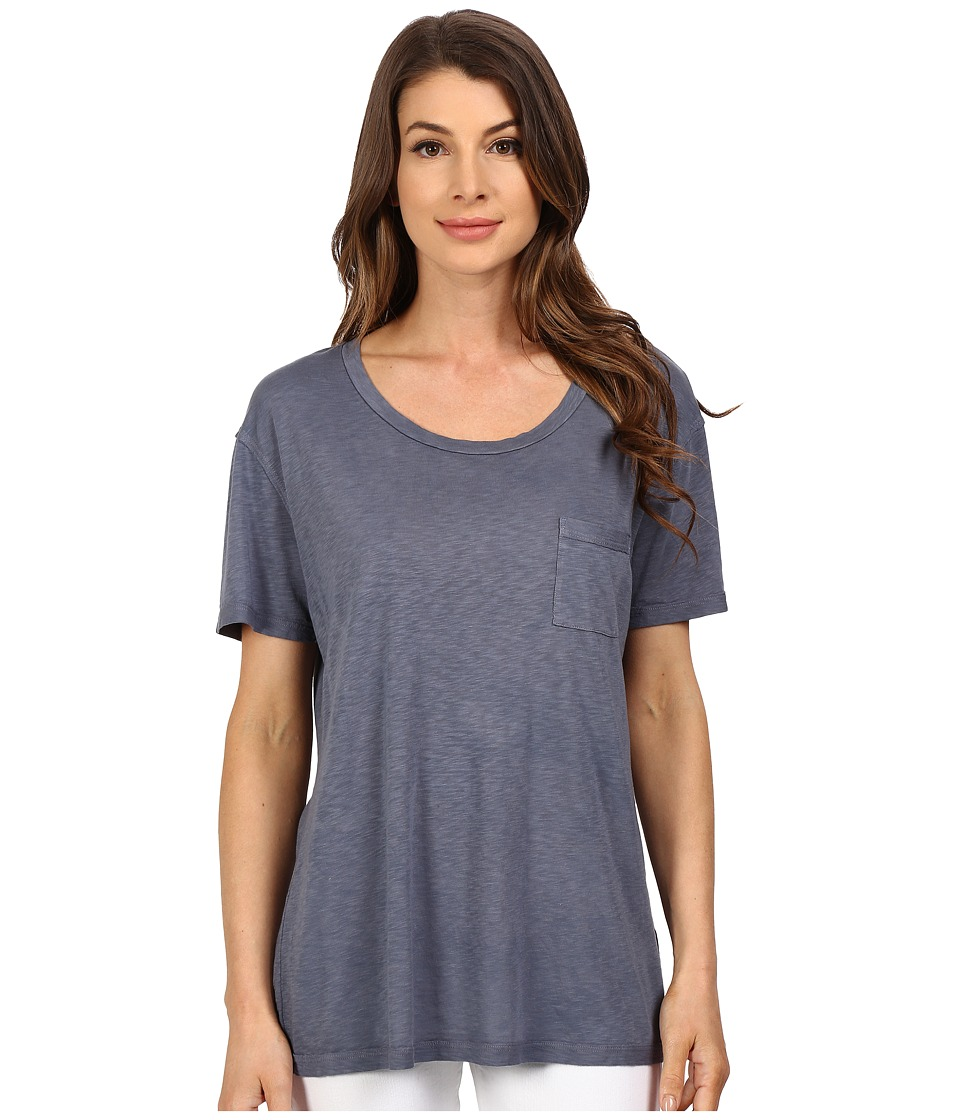 The Beginning Of - Slub Nico Oversized Tee (Nordic Blue) Women's T Shirt