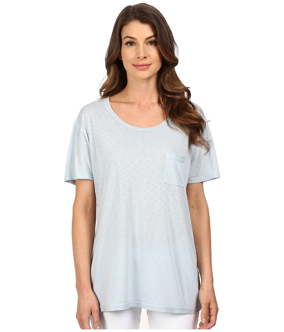 The Beginning Of - Slub Nico Oversized Tee (Sky) Women's T Shirt