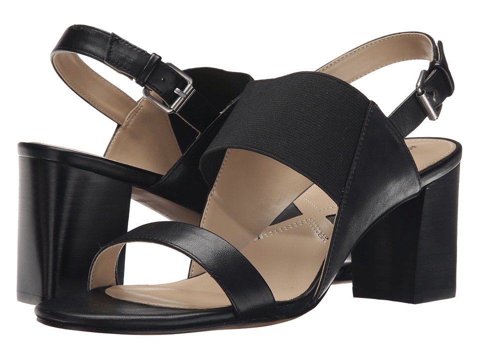 Adrienne Vittadini Panya (Black Soft Calf/Stretch) Women