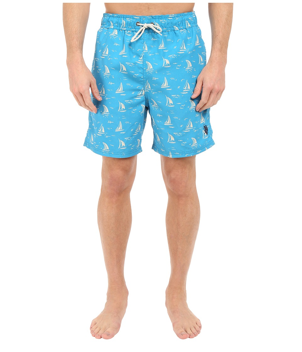 U.S. POLO ASSN. - Sailboat Swim Shorts (Surf Blue) Men's Swimwear