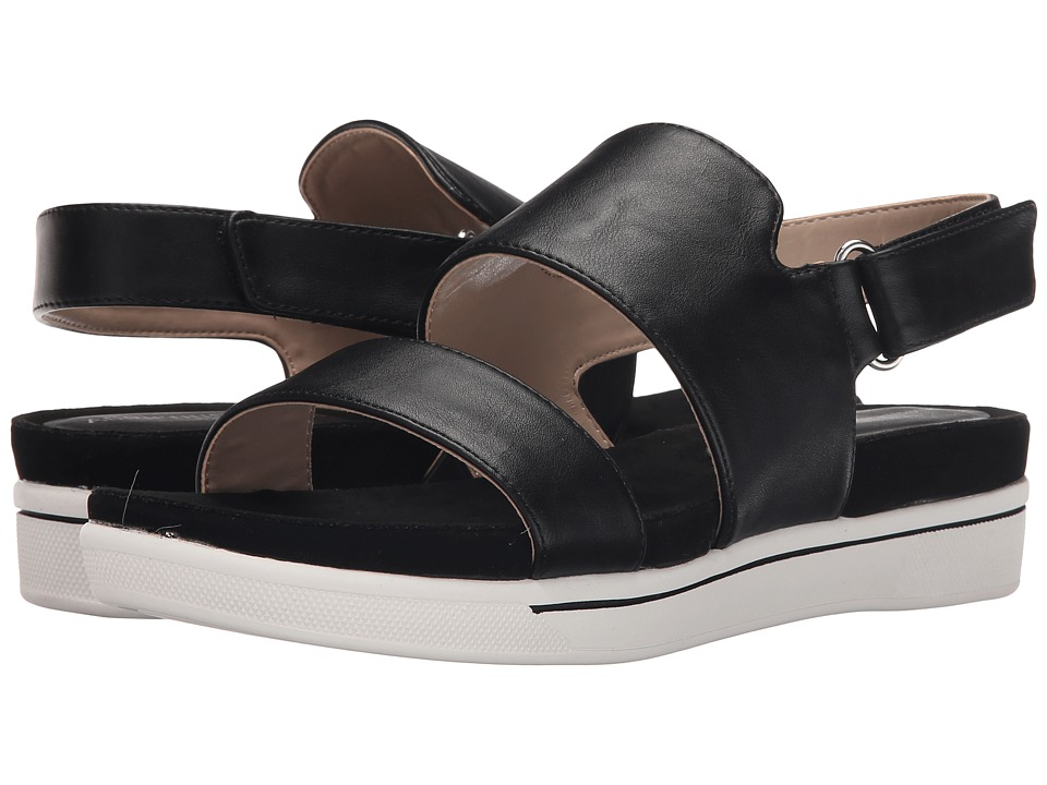 Adrienne Vittadini - Chuckie (Black Smooth) Women's Sandals