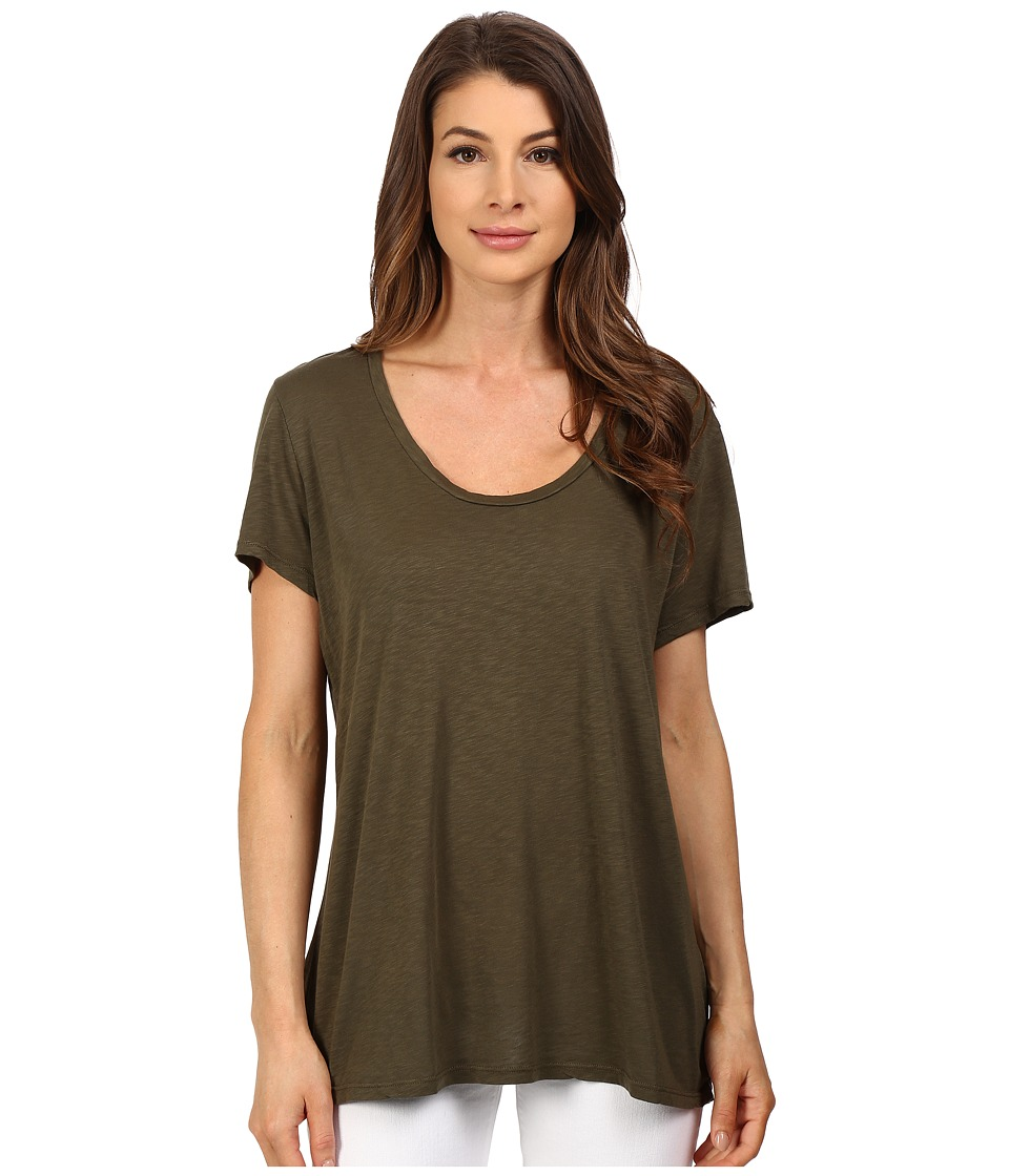 The Beginning Of - Slub Charlotte Slouchy Tee (Moss) Women's T Shirt