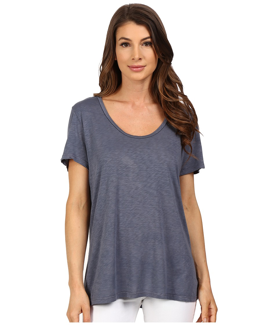 The Beginning Of - Slub Charlotte Slouchy Tee (Nordic Blue) Women's T Shirt