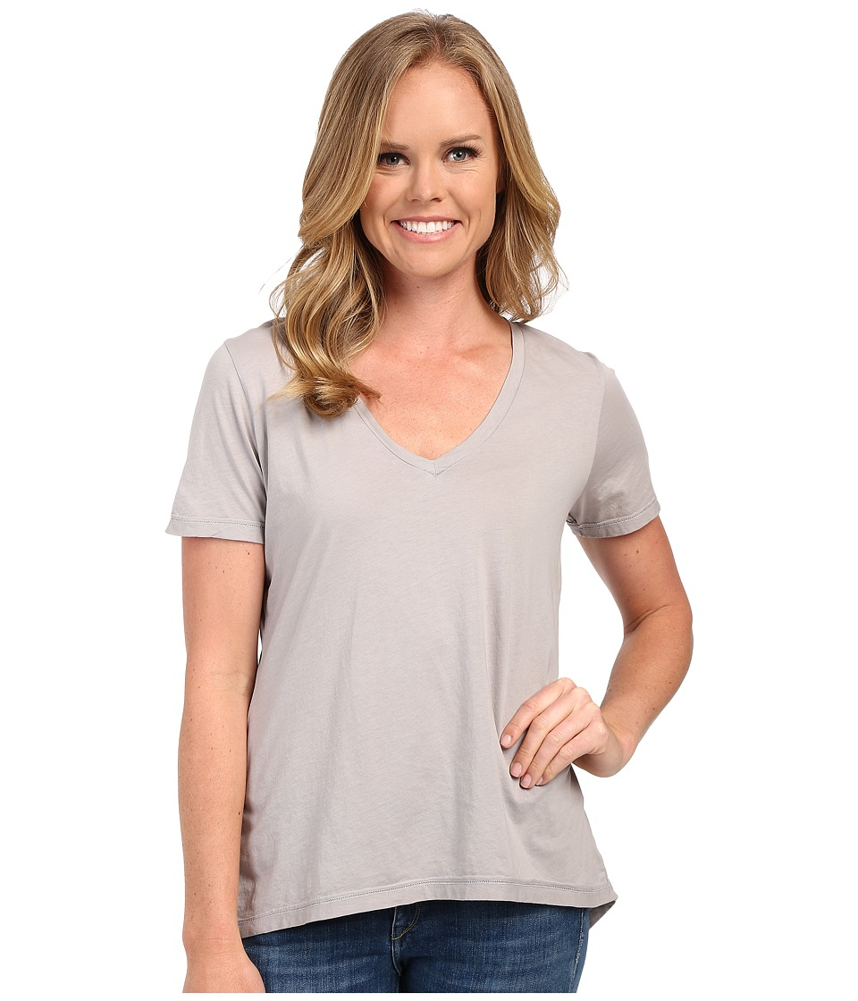 The Beginning Of - Olivia V-Neck High-Low Tee (Dove) Women's Short Sleeve Pullover