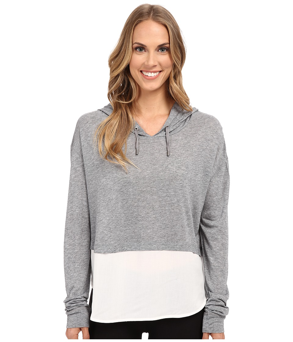 The Beginning Of - Cashmere Modal Emma Blocked Hoodie (Heather Grey) Women's Sweatshirt
