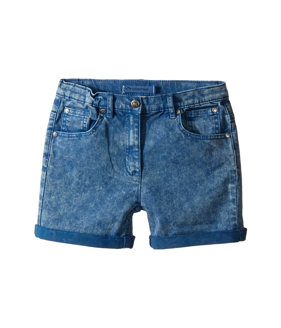 Appaman Kids - Super Soft Roll Cuff York Chalk Denim Shorts (Toddler/Little Kids/Big Kids) (Chalk Blue) Girl's Shorts