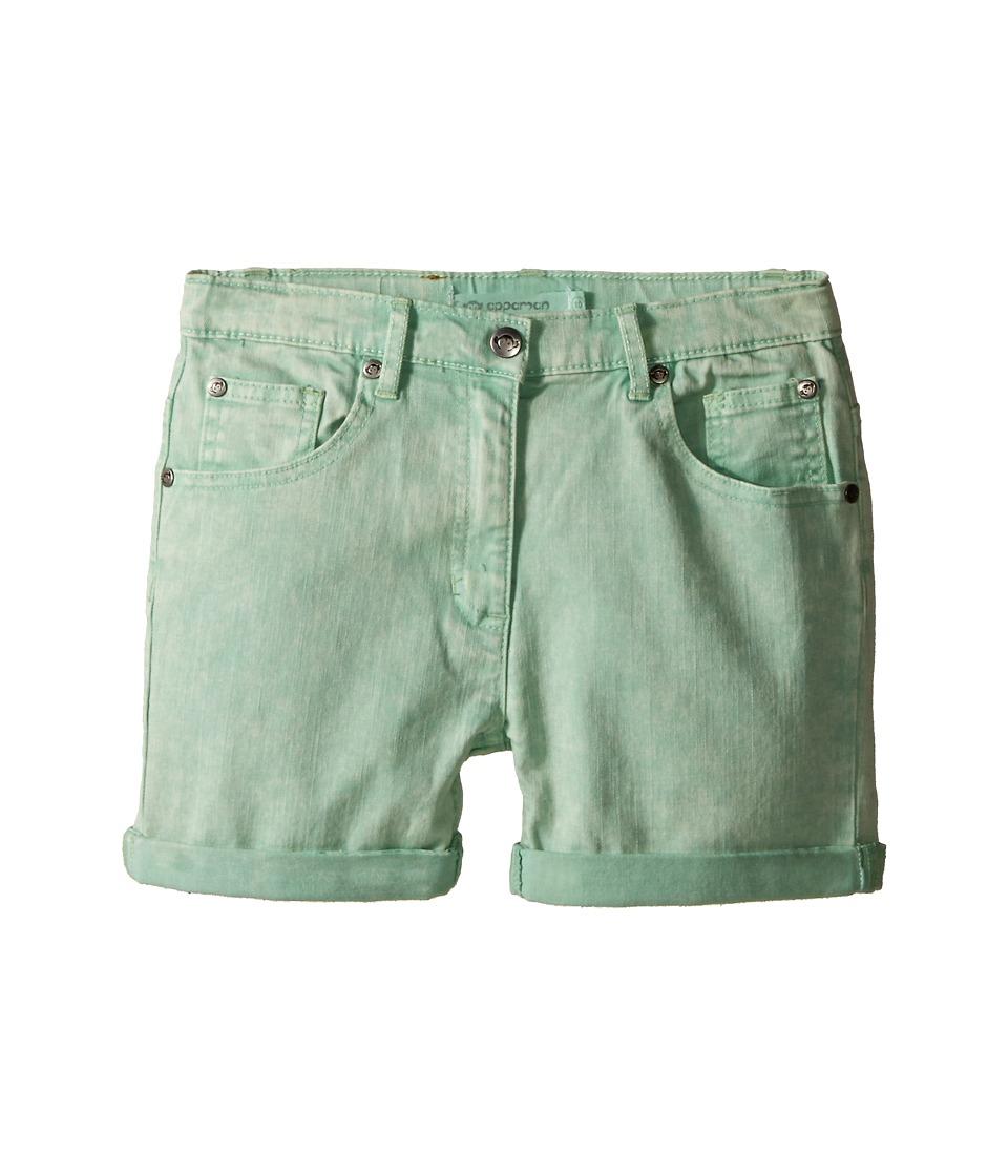Appaman Kids - Super Soft Roll Cuff York Chalk Denim Shorts (Toddler/Little Kids/Big Kids) (Pastel Green) Girl's Shorts