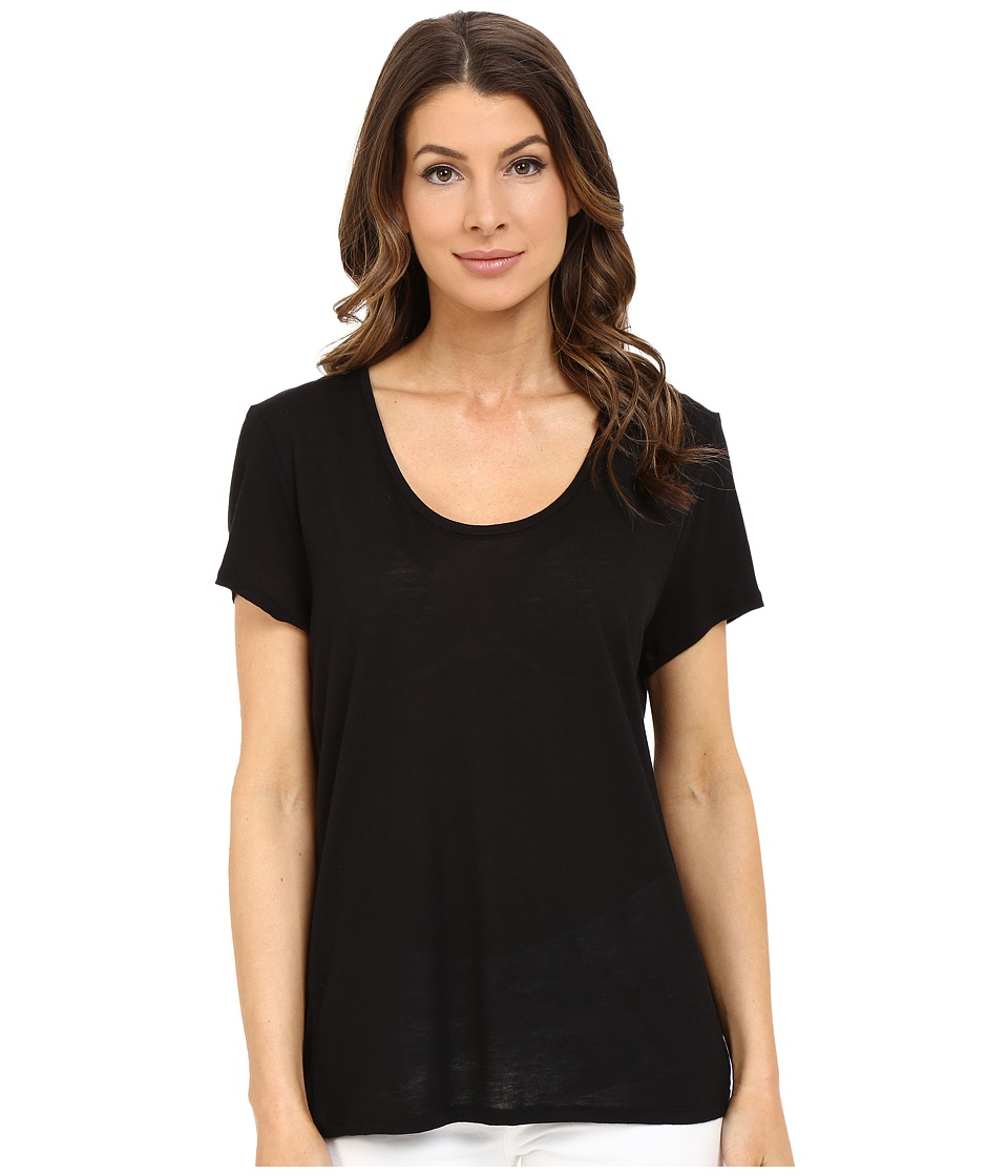 The Beginning Of - Cashmere Modal Charlotte Slouchy Tee (Black) Women's T Shirt