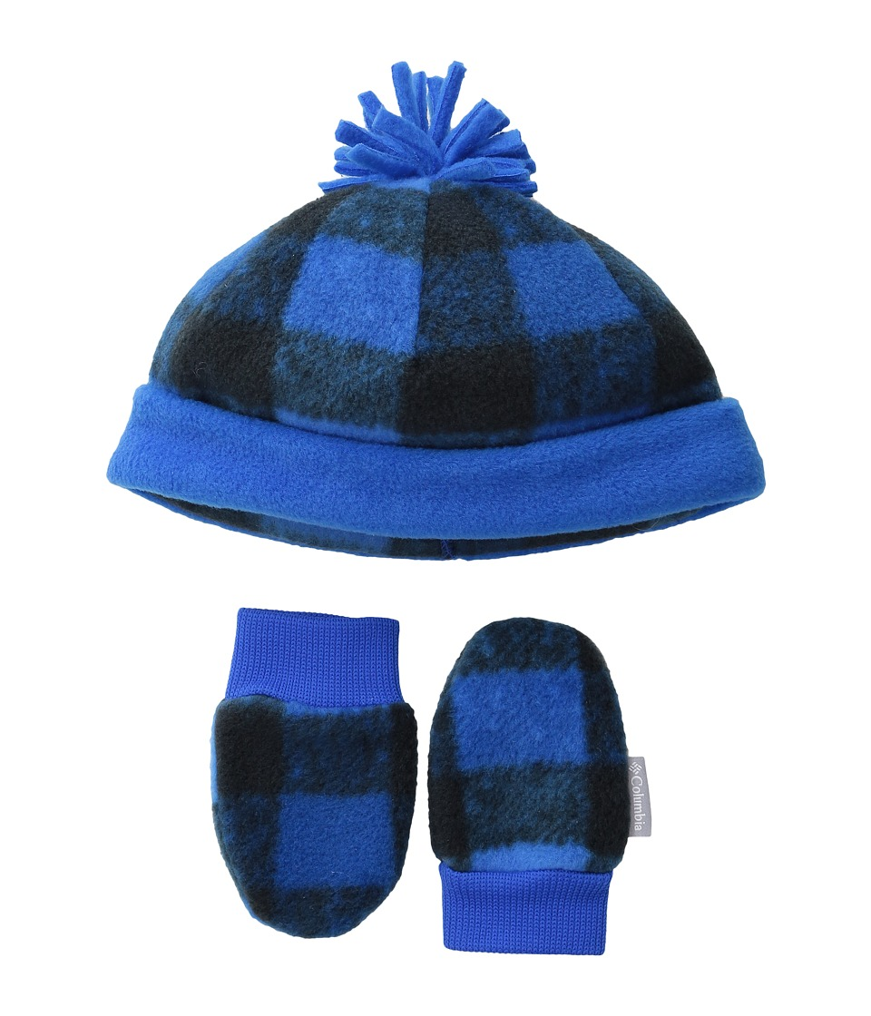 Columbia - Frosty Fleece Hat Mitten Set (Infant) (Super Blue/Buffalo Print) Knit Hats
