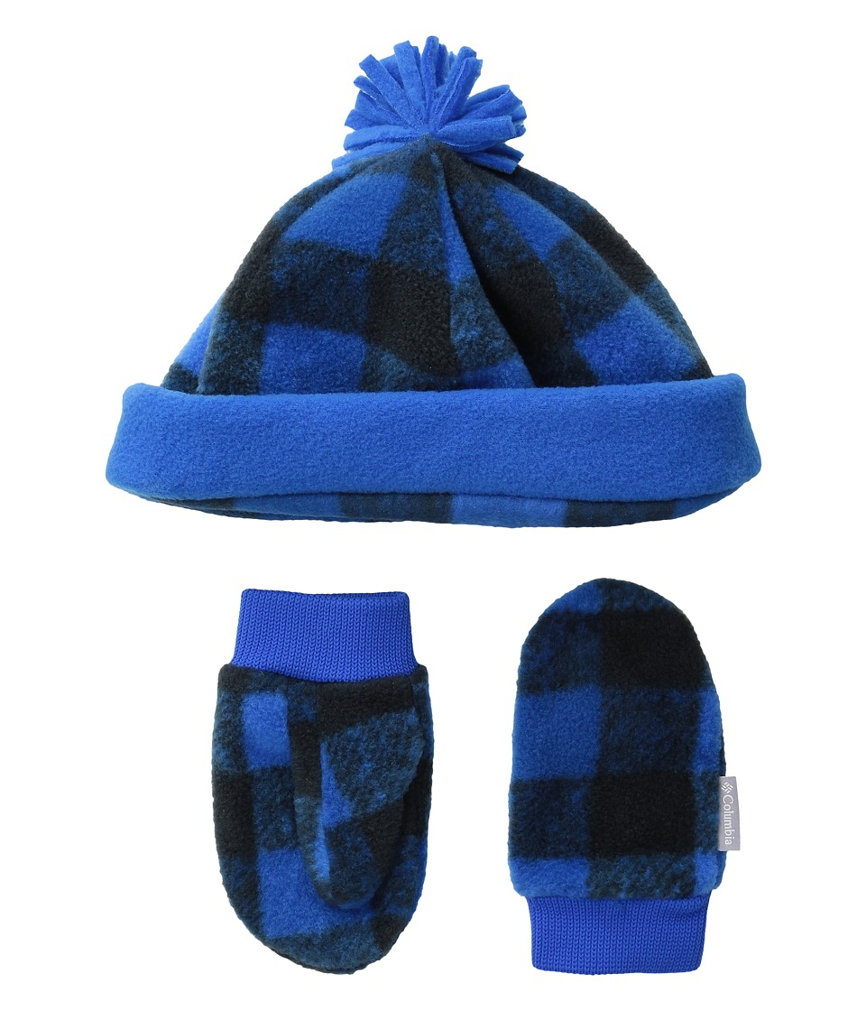 Columbia - Frosty Fleece Hat Mitten Set (Toddler) (Super Blue/Buffalo Print) Knit Hats