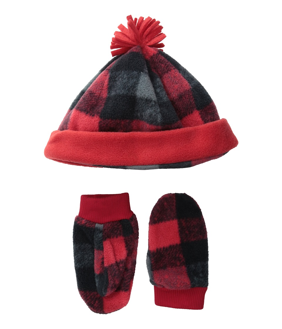 Columbia - Frosty Fleece Hat Mitten Set (Toddler) (Mountain Red/Buffalo Print) Knit Hats
