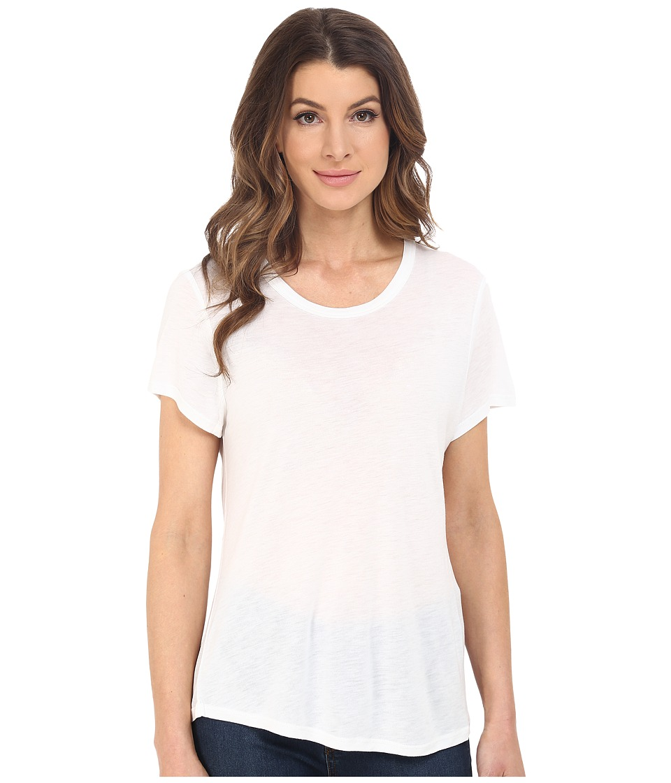 The Beginning Of - Cashmere Modal Effie Perfect Fit Tee (White) Women's T Shirt